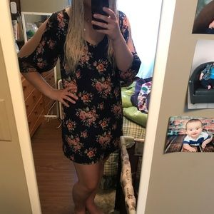 Navy floral Eclipse dress